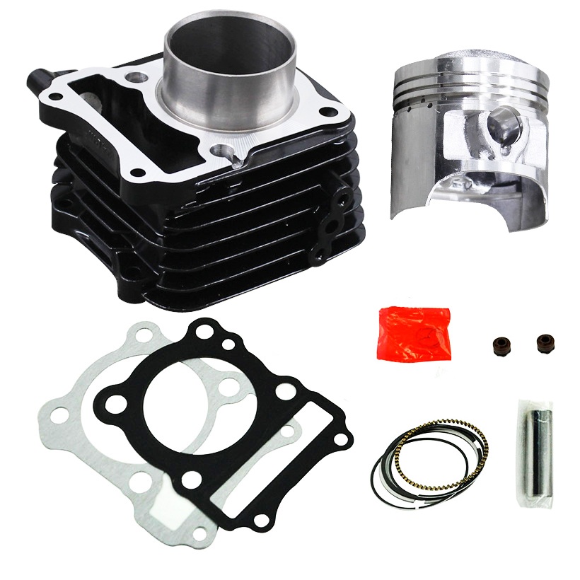 Motorcycle <font><b>Piston</b></font> <font><b>62mm</b></font> FOR Suzuki EN125 GS125 GN125 GZ125 DR125 TU125 125CC Improvement 150CC Engine Cylinder KIT image