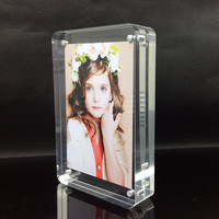 10x8 Inch Quality Thickness Desktop Stand Block Plexiglass Photo Frame Magnetic Perspex Advertisement Picture Insert