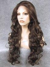 N5-6 / 8 de largo ondulado nuevo estilo de calidad superior pelucas delanteras del cordón sintético