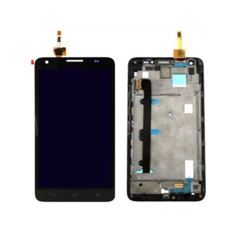 For Huawei Honor 3X G750 Black Full LCD Display Panel + Touch Screen Digitizer Assembly With Frame Housing Bezel