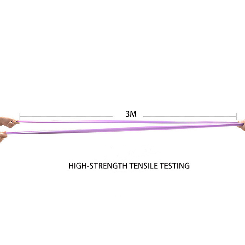 Yoga Pilates Stretch Resistance Band Exercise Fitness Band Training Elastic Exercise Fitness Rubber 150cm natural rubber 5