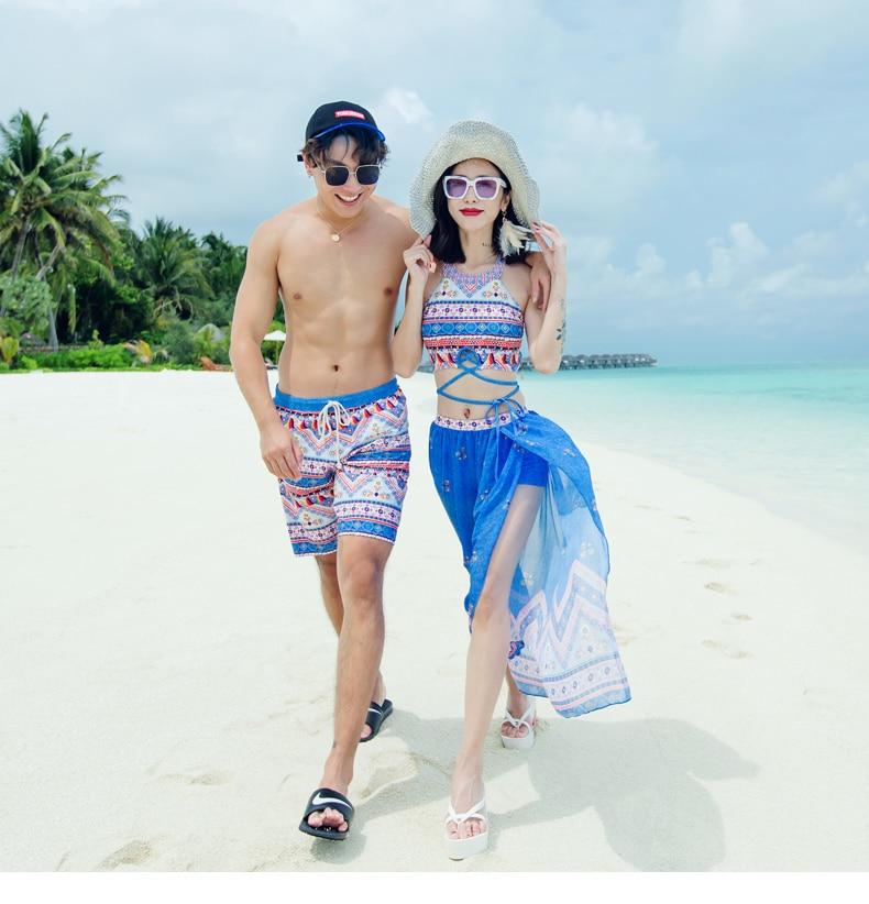 Couple Swimwear bikini set  Trunks Beach Board Shorts Swimming Pants Swimsuits Mens Running Sports Surffing Shorts Men & women