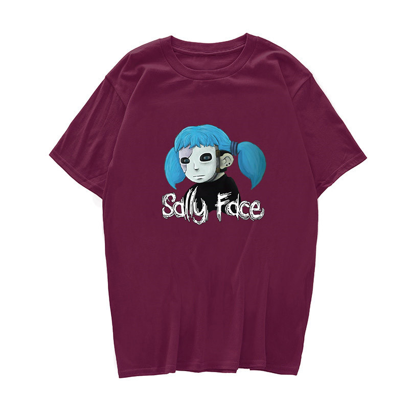 Sally Face t shirt men Harajuku Women Unisex summer 2019 mens tshirts casual clothing letter cartoon print camisetas hombre image