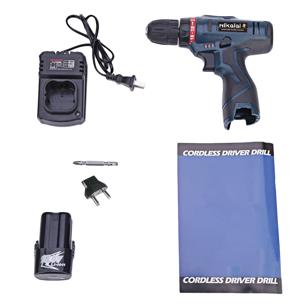 16.8V Electric Screwdriver Rechargeable Lithium Battery Electric Drill Parafusadeira Furadeira Cordless Screwdriver Power Tools