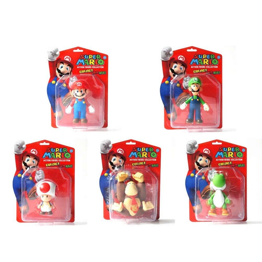 ᓂ5x Mario estupendo Bros Luigi sapo Yoshi Donkey Kong DK colección ...