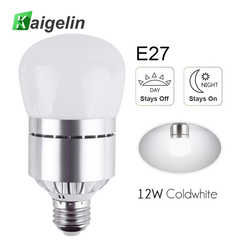 Us 9 73 38 Off Led Light Bulbs Dusk To Dawn Sensor Lights Bulb Smart Lighting Lamp 12w 850lm E26 E27 Auto On Off Indoor Outdoor Security Light In