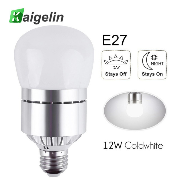 Led Light Bulbs Dusk To Dawn Sensor Lights Bulb Smart Lighting Lamp 12w 850lm E26 E27 Auto On Off Indoor Outdoor Security
