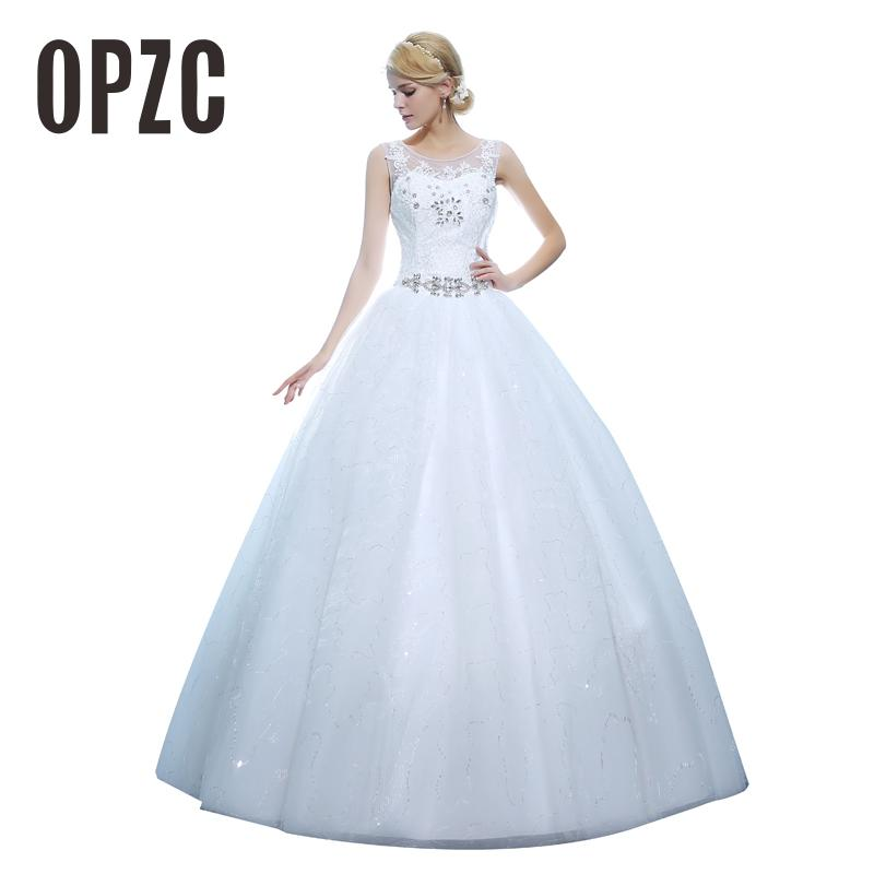 Custom Made 2016 Newest Real Photo Sweethear Crystal Wedding Dresses Sashes Dress Wedding Princess Ball Gown