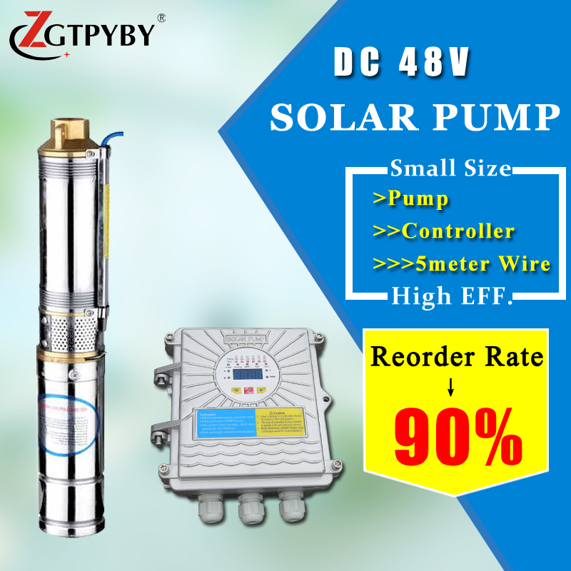 solar powered submersible deep well water pumps Reorder rate up to 80% solar water pump dc deep well for agriculture solar borehole pumps irrigation water pump reorder rate up to 80% pool pump solar powered