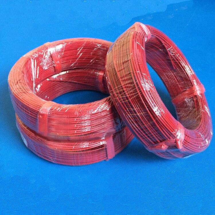 100 м силиконовый 3 к-48 к нагревательный кабель подпольный из углеродного волокна нагревательный кабель Электрический нагревательный провод...