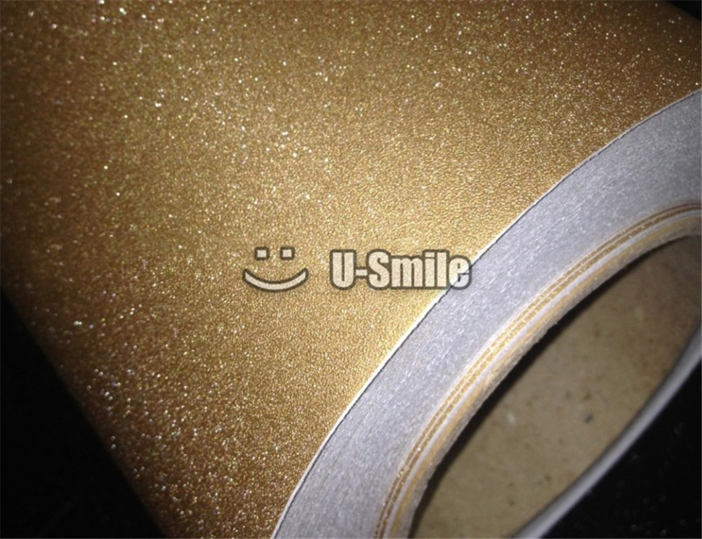 High Quality Glitter Sandy Gold Diamond Vinyl Sticker Decal Bubble Free For Phone Laptop Ipad Skin Cover Size:1.52*30M wholesale brand new carbon fibre vinyl 17notebook pc laptop skin sticker cover decal free squeegee printed 40cm 29 for computer