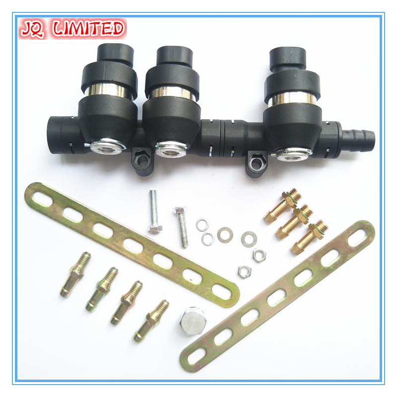 3Ohms 3 cylinder CNG LPG Injector Rail Super Silent high speed Common Injector Rail gas injector