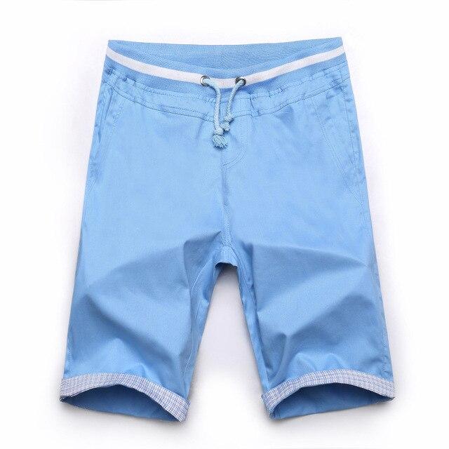 Shorts Men Board Shorts  Cotton 2016 Summer Beach Style Slim Plus Size Big Size M-5XL White Black  Blue