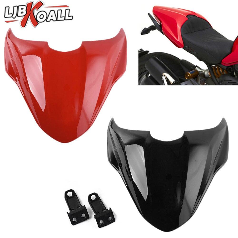 Motorcycle Rear Tail Pillion Passenger Hard Seat Cover Cowl Fairing For Ducati Monster 821 2014 2015 2016 2017 Black Red