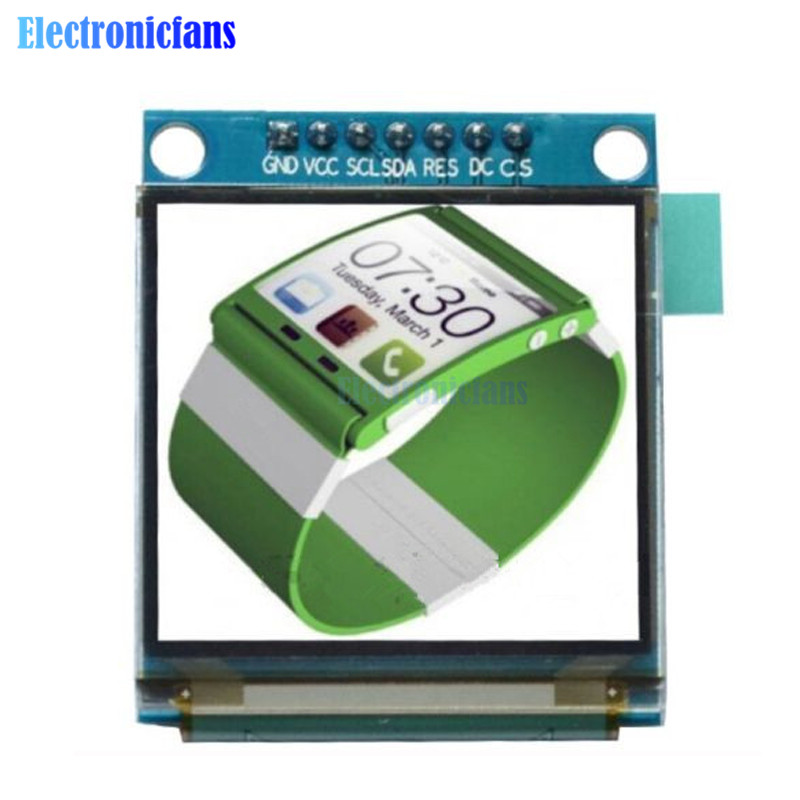 1.5 Inch 7PIN Full Color OLED Module Display Screen SSD1351 Drive IC 128(RGB)*128 SPI Interface For 51 STM32 Arduino