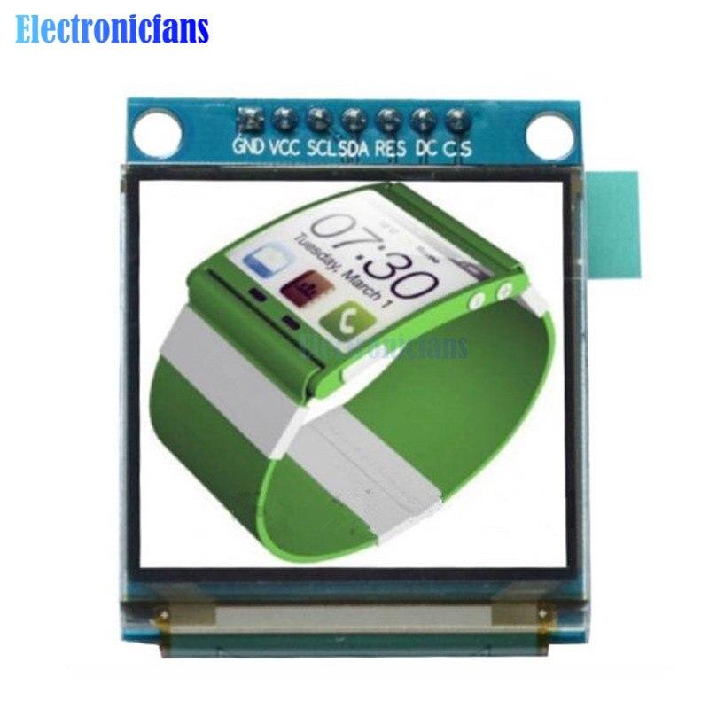 1.5 polegada 7PIN Full Color módulo Display OLED Tela SSD1351 Unidade IC 128 (RGB) * 128 Interface de SPI para Arduino 51 STM32