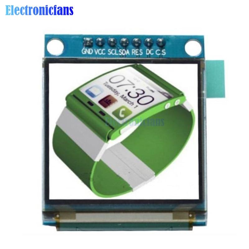 1.5 polegada 7pin cor cheia oled módulo tela de exibição ssd1351 drive ic 128 (rgb) * 128 spi interface para 51 stm32 arduino