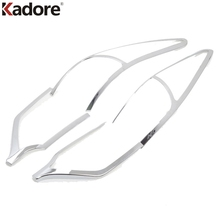 For KIA Sportage 2016 2017 Fourth Generation Rear Light Lamp Cover Trim Taillight Shade Hood ABS Chrome Car Exterior Accessories