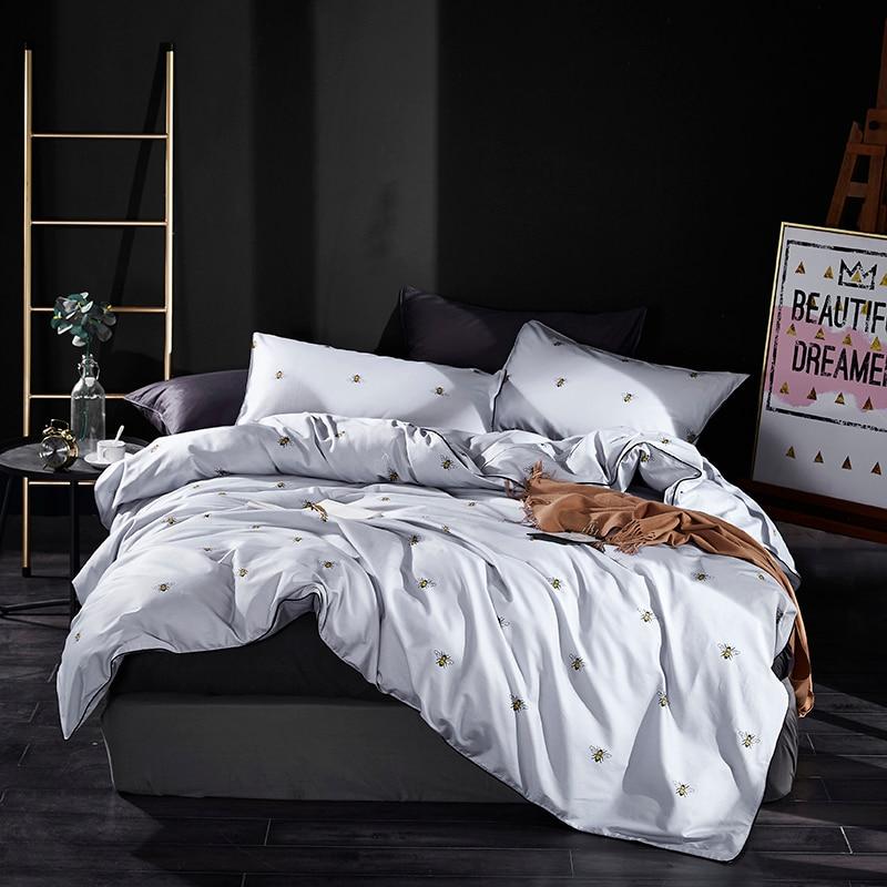 Nette Hunde Pferd druck 100% Baumwolle Bettwäsche Set Twin Königin König größe bettwäsche Bettbezug Ausgestattet blatt Bett set ropa de cama-in Bettwäsche-Sets aus Heim und Garten bei  Gruppe 3