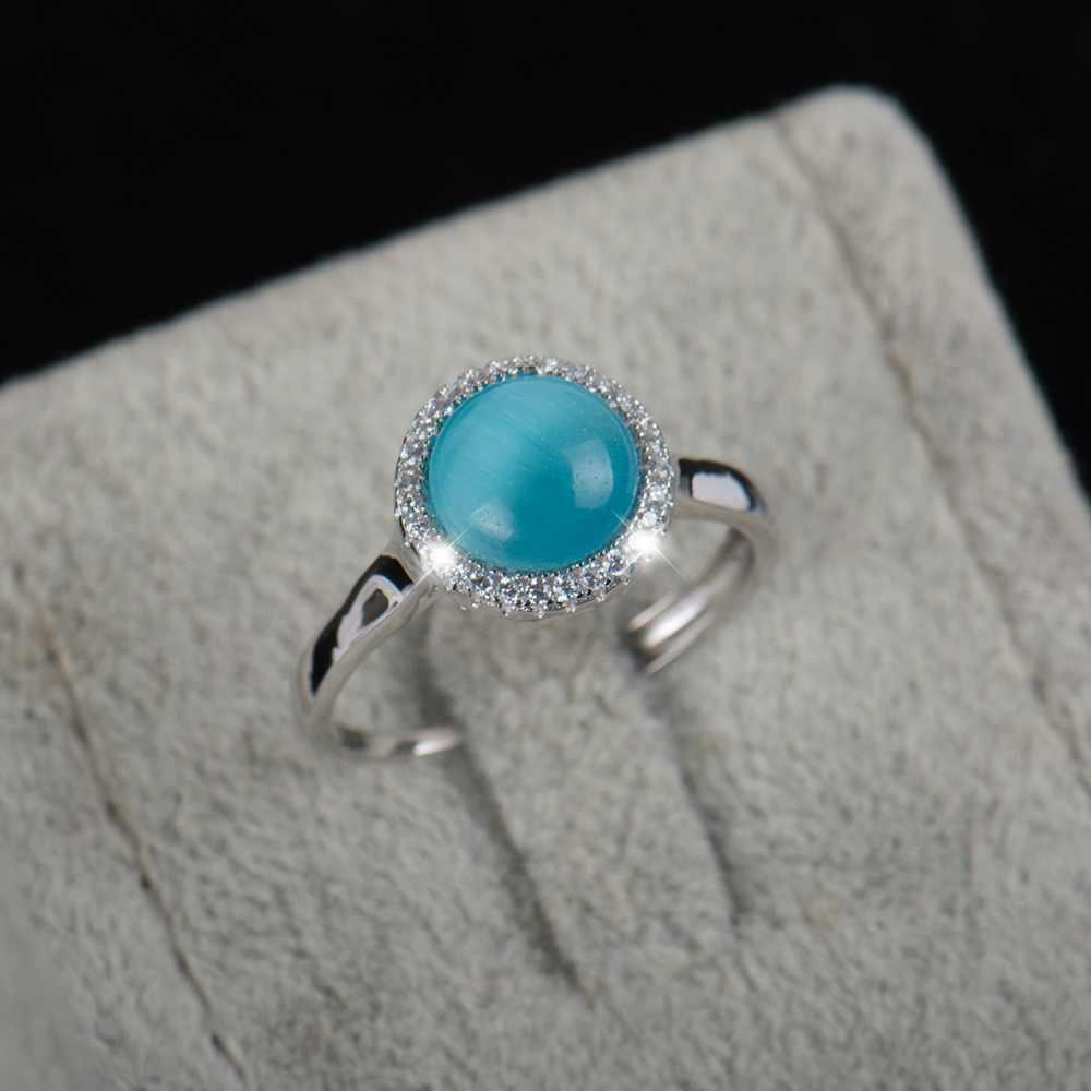 טבעת מתכווננת 2016 אופנה חדשה למעלה איכות הלשם טבעי תכשיטי טבעות כסף סטרלינג 925 משלוח תיבת טבעת מתנה לנשים