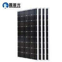 XINPUGUANG 2 шт. 3 шт. 4 шт. солнечная панель 100 Вт 18 в стеклянная солнечная панель s 200 Вт 300 Вт 400 Вт panneau solaire монокристаллическая солнечная панель 12 В