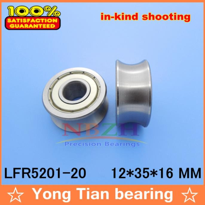 LFR5201-20 NPP LFR5201-20 KDD Groove Track Roller Bearings size: 12*35*16mm (Precision double row balls) ABEC-5 50mm bearings nn3010k p5 3182110 50mmx80mmx23mm abec 5 double row cylindrical roller bearings high precision