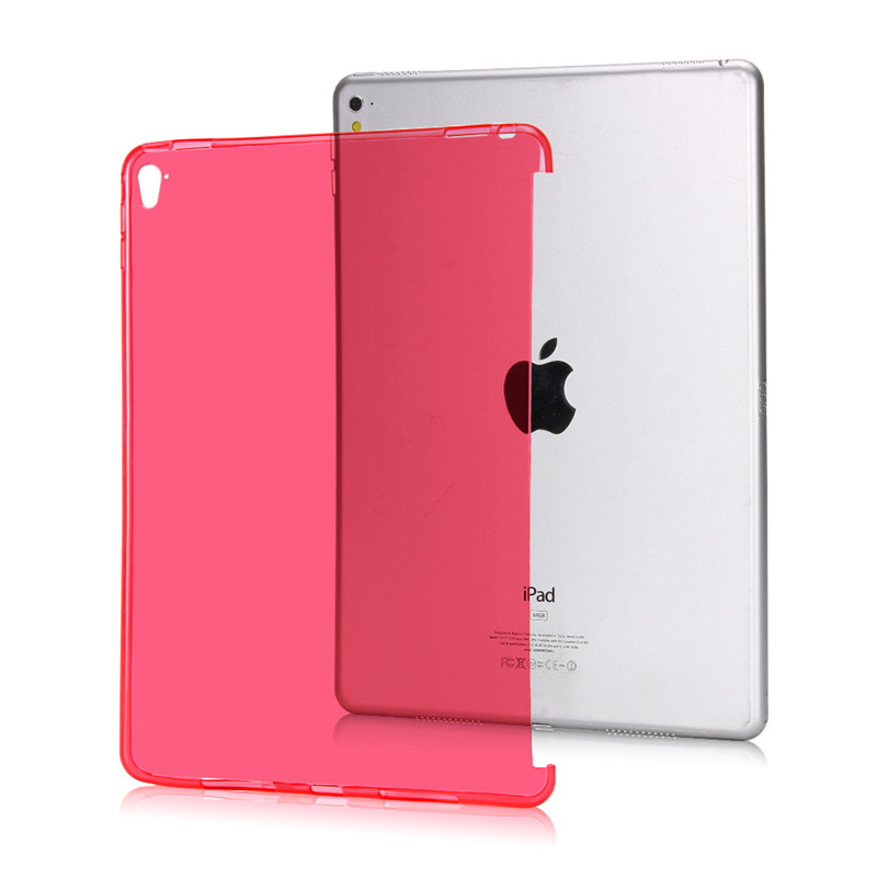 TPU Back Soft Tablet Sleeve For Apple iPad Air 1 Case Transparent Can See Logo Silicon Tablet Bag Case For iPad 5 Cover Shell