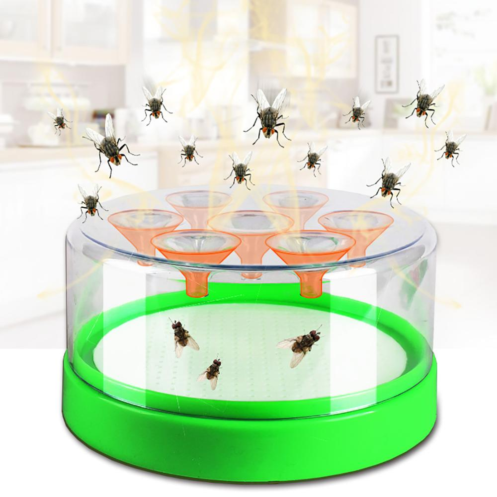 Image 2 - Plastic fly trap bait included fly killer-in Traps from Home & Garden