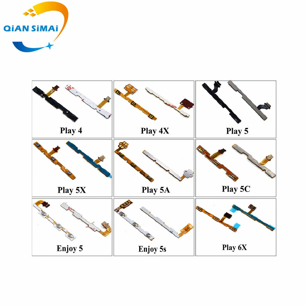 1PCS New Volume & Power On/off Button Switch Flex Cable For Huawei Honor Play 4 4X 5 5X 5A 5C 6X Enjoy 5 5s