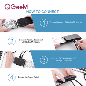 Image 5 - QGeeM SATA to USB IDE Adapter USB 3.0 2.0 Sata 3 Cable for 2.5 3.5 Hard Disk Drive HDD SSD USB Converter IDE SATA Adapter
