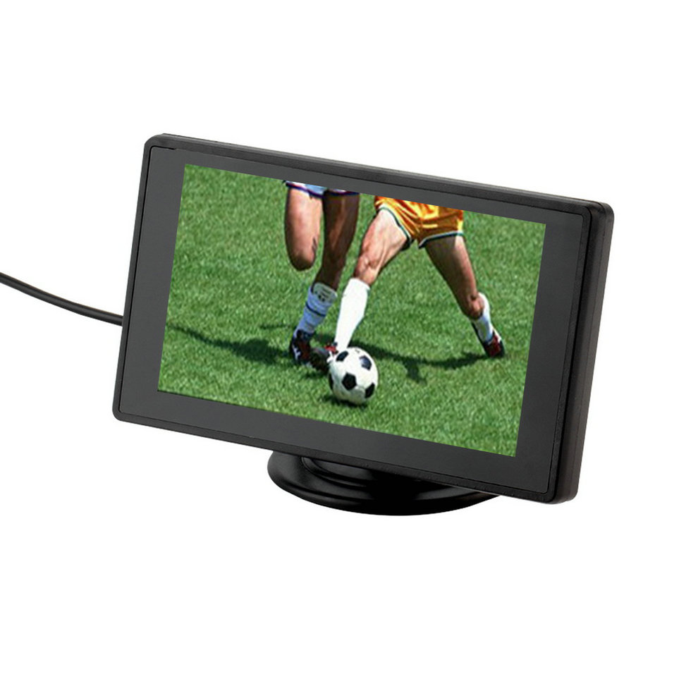 4.3 Inch Color TFT LCD Display Car Rear View Headrest Monitor For DVD Reversing Camera 2 Channel Video Input car monitor