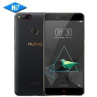 Original NOVO ZTE Nubia Z17 mini Mobile Phone 4 GB 64 GB Snapdragon 653 Dual Câmera Traseira 13MP 5.2 polegada Fingerprint NFC 4G LTE