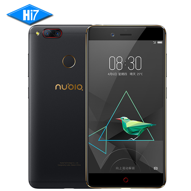 NEW Original ZTE Nubia Z17 mini Mobile Phone 4GB 64GB Snapdragon 653 Dual Rear Camera 13MP 5.2 inch Fingerprint NFC 4G LTE