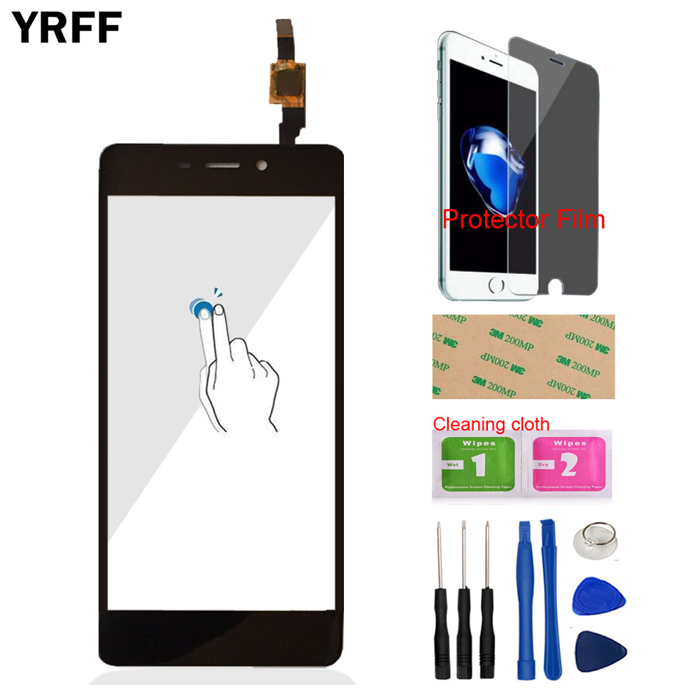 Touch Front Glass For Xiaomi Redmi 4 / Redmi 4 Pro Prime 4A Touch Screen Digitizer Panel Glass Lens Sensor Mobile Protector Film(China)