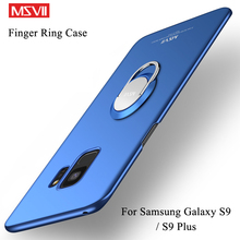 For Samsung Galaxy S9 S8 Plus Case Cover Msvii Slim Matte Coque For Samsung S9 S8 Plus Case Ring Holder Cover S 8 S 9 Cases