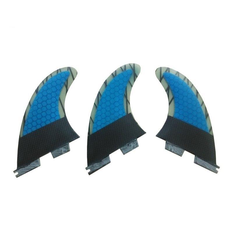 Surfing FCS2 G3 fins Honeycomb Fibreglass Fin Carbon Fiber Surf FCSII G3 Fins blue/green