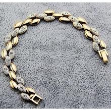 Fashion Double Color Wheat Bracelet Alloy Rhinestone Wrist Chain Ladies Jewelry Accessories JBS105