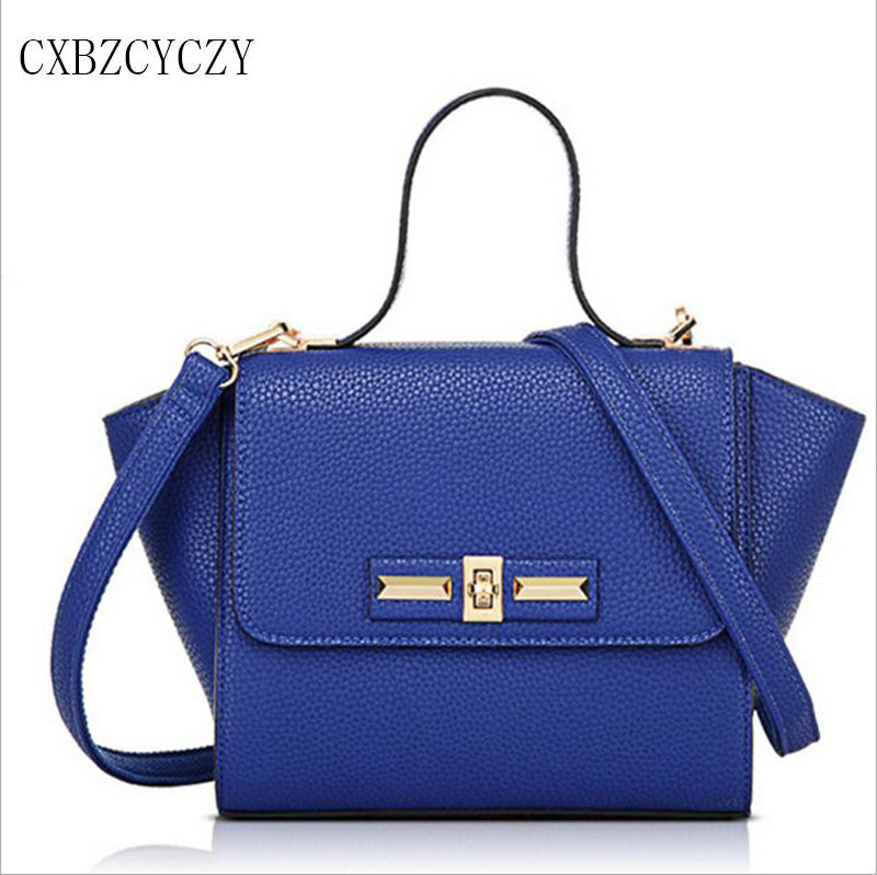 2017 Totes Luxury Handbags Women Bags Designer Famous Brands Women Shoulder Bag PU Leather Hand Bag blue Trapeze Bolsa Feminina lafestin luxury shoulder women handbag genuine leather bag 2017 fashion designer totes bags brands women bag bolsa female