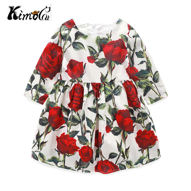 a50be1a60206 Kimocat new girls clothes Long sleeve Autumn and winter Chiffon rose ...