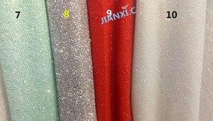 Image 2 - Moda JIANXI.C 121691 afrykański brokat koronki tkaniny na imprezę sukienka 5 stoczni/dużo haftowany tiul koronka z klejonym brokatem