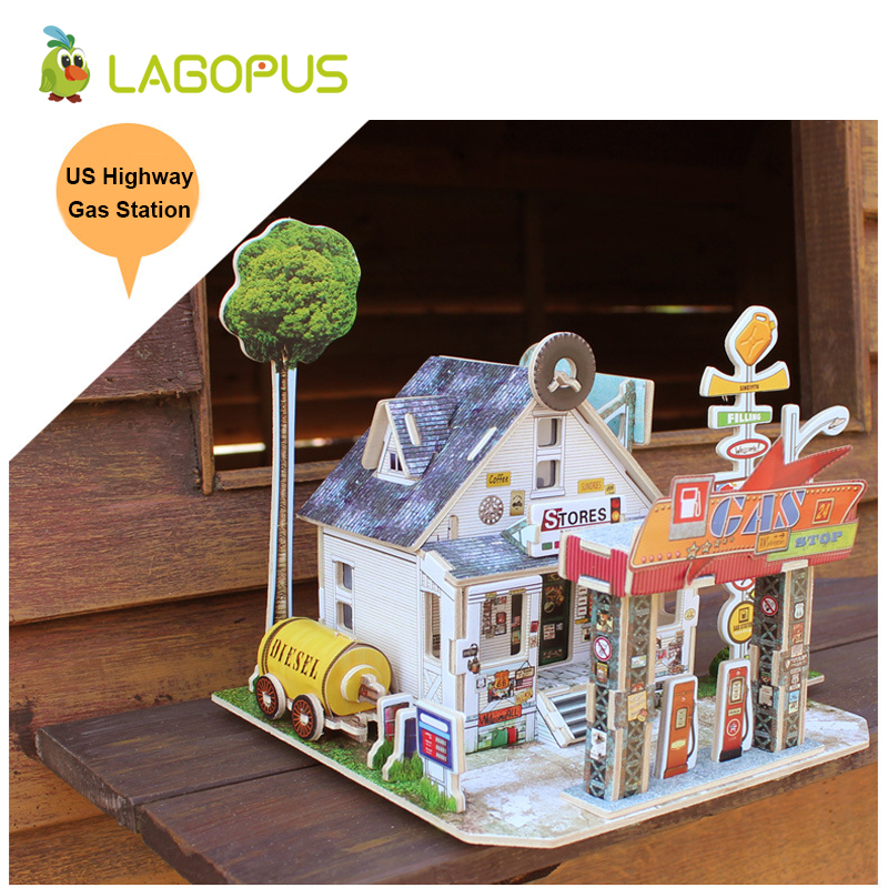 lagopus 3D Puzzle DIY Jigsaw Early Learning Game for Children Educational Puzzle Gift for Kids in Puzzles from Toys Hobbies