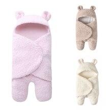 Спальный мешок из искусственного кашемира для пеленания девочек и новорожденных