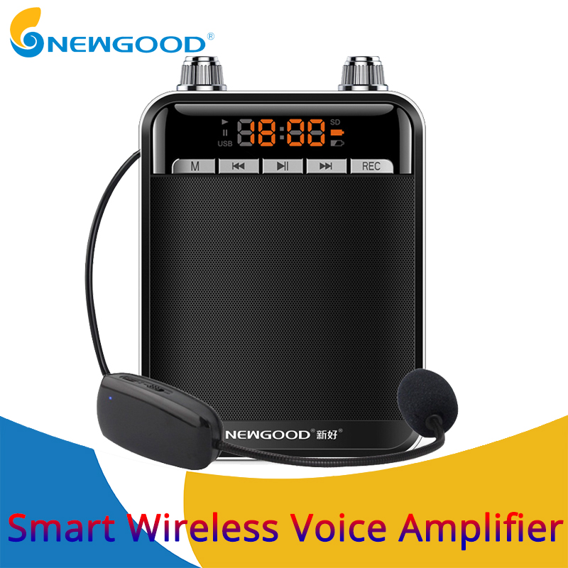 где купить Portable Smart Wireless Voice Amplifier for Teachers Megaphone Booster Amplifier speakers UHF wireless microphone FM radio дешево