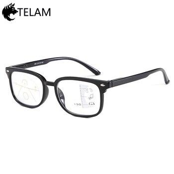 38b74de48a Nuevo enfoque progresivo gafas de lectura hombres dioptrías de presbicia  hombre gafas + 1,0 + 1,5 + 2,0 + 2,5 + 3,0 + 3,5