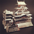 Construction Famous Buildings Over The World 3D Metal Model Puzzles HIMEJI CASTLE Chinese Metal Earth Stainless Steel
