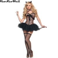 Cat Woman In Sexy Costume Corset Adult Female Cat Costumes Fancy Dress In Halloween Carnival Party