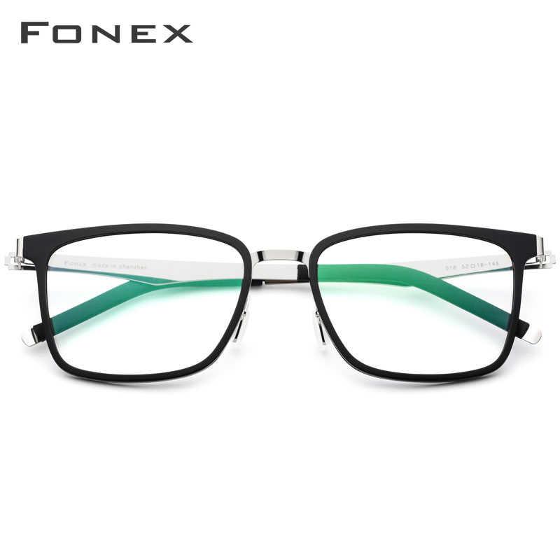 FONEX TR90 Óculos de Armação Homens Quadrados Prescrição Óculos de 2019 Novos Óculos de Miopia Armações de Óculos Mulheres Sem Parafusos