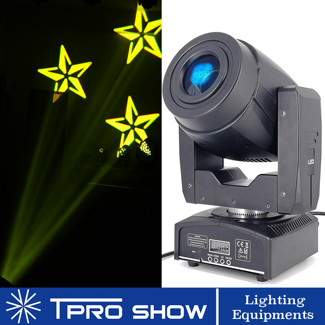 Mini Moving Head 90W Spot Lyre LED Disco Light Prism Beam Effect DMX512 Control Gobo Projector Dj Lights Moving Music Reaction