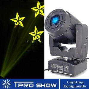 Image 1 - Mini cabezal móvil 90W Spot Lira LED Disco luz prisma efecto de haz DMX512 Control Gobo proyector Dj luces música en movimiento reacción