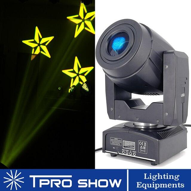 Mini cabezal móvil 90W Spot Lira LED Disco luz prisma efecto de haz DMX512 Control Gobo proyector Dj luces música en movimiento reacción